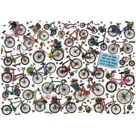 SkoKo Wimmelbild Postkarte - Fahrräder