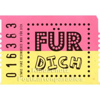 Für Dich - Postkarte Geburtstag Kinokarte von SkoKo