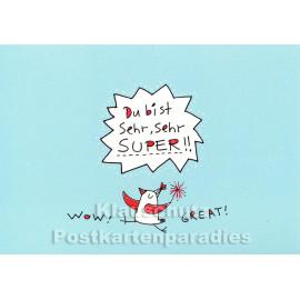 Karindrawings Discordia Postkarten | Du bist sehr, sehr super