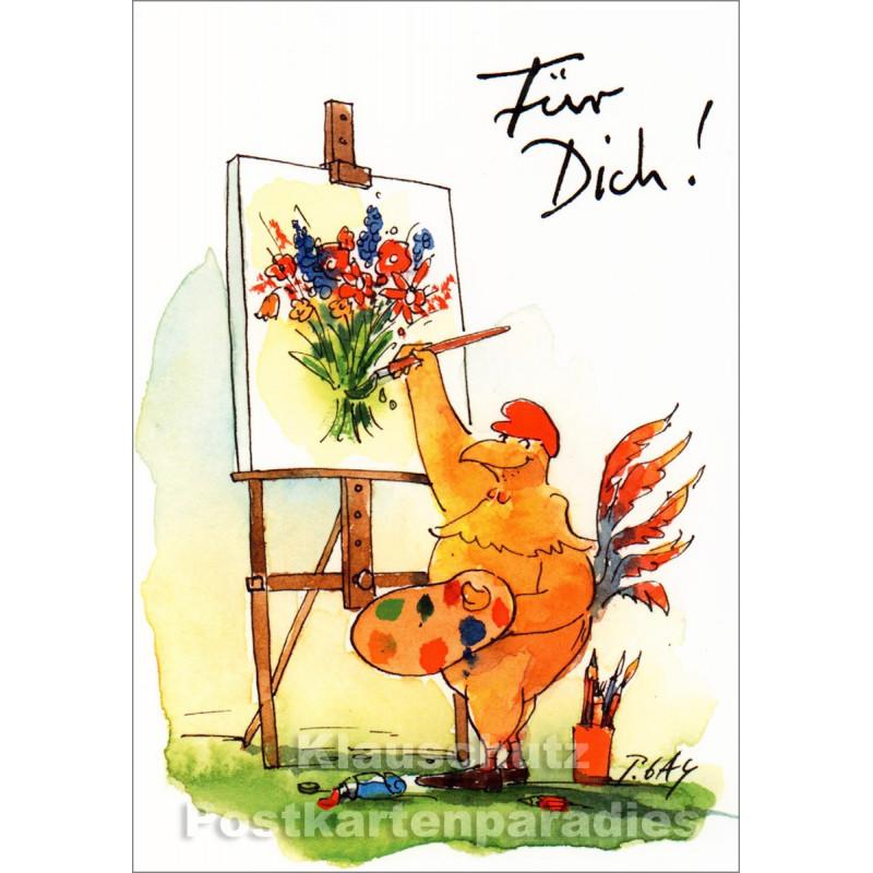 Peter Gaymann Hühner Postkarten | Für Dich | Vertrieb: Discordia