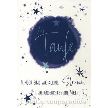 Taurus Doppelkarte zur Taufe | Kinder sind wie kleine Sterne
