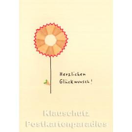 Discordia Buntstift Spitzer Doppelkarte Geburtstag - Herzlichen Glückwunsch