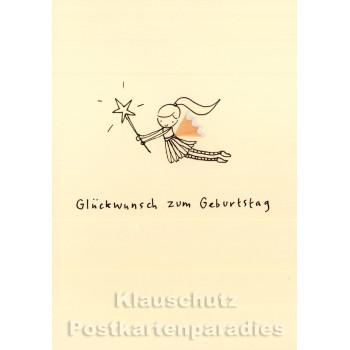 Discordia Buntstift Spitzer Doppelkarte Geburtstag - Glückwunsch zum Geburtstag