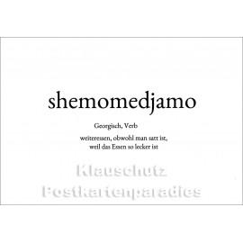 Shemomedjamo | Wortschatz Postkarte im Discordia Vertrieb