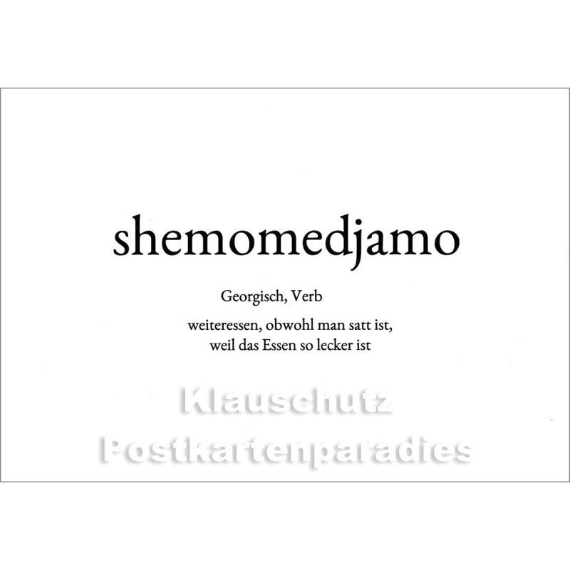 Shemomedjamo   Wortschatz Postkarte im Discordia Vertrieb
