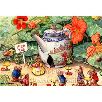 Mäuse Tea Time | Kinder Postkarte von Taurus
