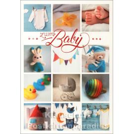 Taurus Doppelkarte zur Geburt | Zum Baby