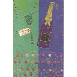 Doppelkarte Schönes Fest Neujahr