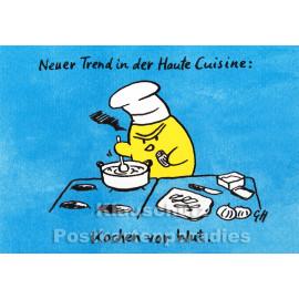 Discordia / Bizarr Grafik Postkarten | Kochen vor Wut