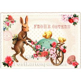 ActeTre Retro Glitterkarte - Frohe Ostern Osterhase