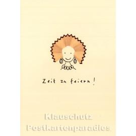 Discordia Buntstift Spitzer Doppelkarte Geburtstag - Zeit zu feiern