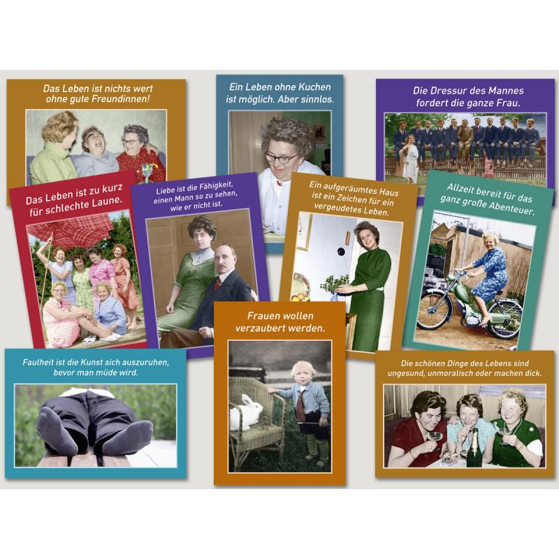 Sprüchekarten Sparset vom Postkartenparadies