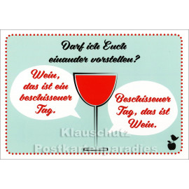 Beschissener Tag | Mainspatzen / Discordia Sprüche Postkarte