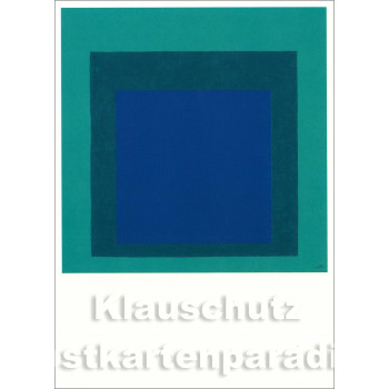 Taurus Kunstpostkarte | Josef Albers - Hommage to the Square