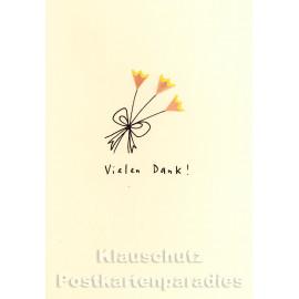 Discordia Buntstift Spitzer Doppelkarte Geburtstag - Vielen Dank