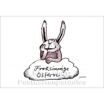 Liitle Tiger Janosch Postkarte - Frohsinnige Ostern