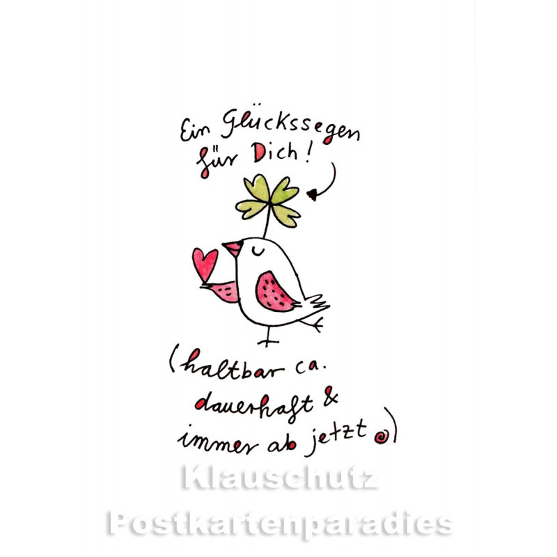 Ein Glückssegen für Dich! | Discordia / Karindrawings Postkarte