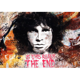 Tushita Graffiti Foto Postkarte - The End - Jim Morrison, Doors