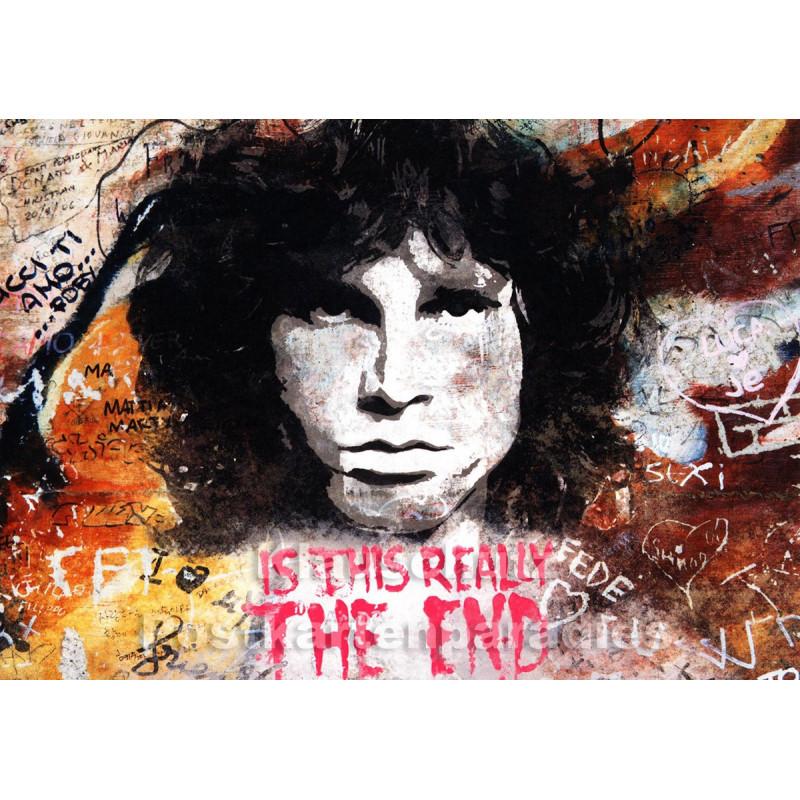 Tushita Graffiti Foto Postkarte - The End - Jim Morrison, Doors
