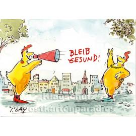 Peter Gaymann Postkarte - Bleib gesund