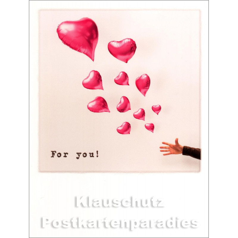 Taurus Polacard mit Herz Balloons | For You
