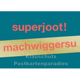 Cityproducts Postkarte goldfarben auf kölsch | Superjoot!