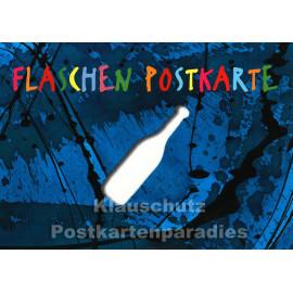 Flaschen Postkarte | Gestanzte Karte von Discordia