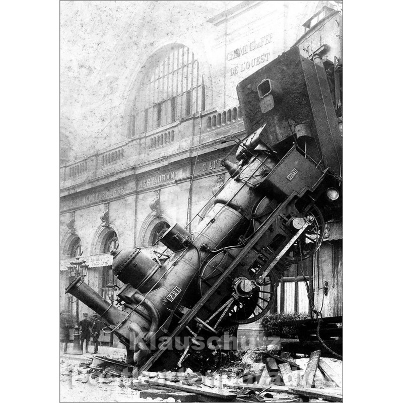 Zugunglück im Gare du Nord, Paris, 1895 | Foto Postkarte von Discordia