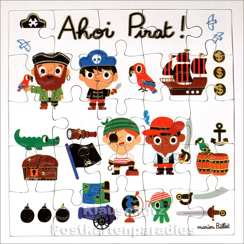 ActeTre Puzzlecard - Ahoi Pirat