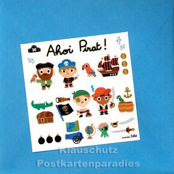 ActeTre Puzzlecard - Ahoi Pirat | inkl. Glückwunschkarte und Umschlag