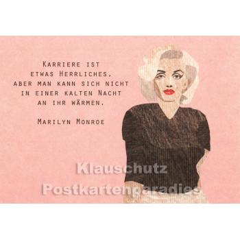 Holzschliffpappe Postkarten von Studio Blankensteyn   Zitat Marilyn Monroe