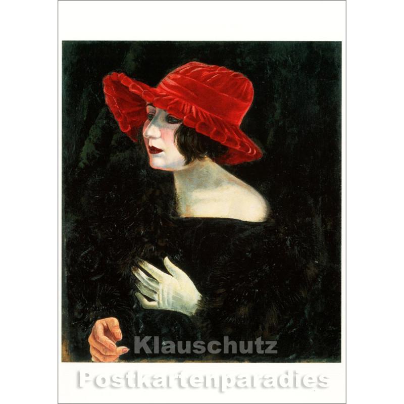 Taurus Kunst Postkarte | Otto Dix | Bildnis Frau Martha Dix