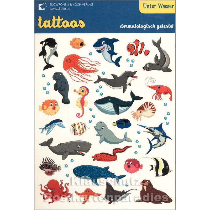 SkoKo Kinder Tattoos - Unter Wasser