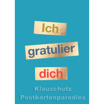 Cityproducts Ruhrpott Postkarte zum Geburtstag: Ich gratulier dich