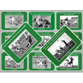 11 Postkarten Fußball vom Postkartenparadies