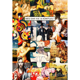 Wer sind die 12 Künstler? ActeTre Postkarte V