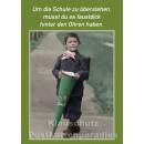10 schöne und lustige Postkarten vom Postkartenparadies zum Thema Schule im Sparpaket. | JS194 - fausdick hinter den Ohren
