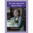 10 schöne und lustige Postkarten vom Postkartenparadies zum Thema Schule im Sparpaket. | JS196 Pisa