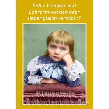 10 Postkarten vom Postkartenparadies zum Thema Schule im Sparpaket. | Lehrerin oder verrückt - JS275