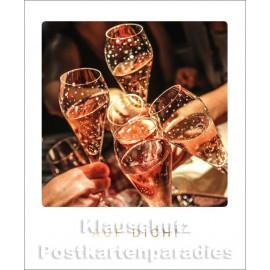 Cityproducts Happymemories Geburtstag Postkarte - Auf Dich! Mit goldfarbener Lackierung