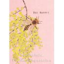 Holzschliffpappe Postkarten von Blankensteyn   Bee Happy! Biene
