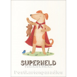 Superheld | SkoKo Little Greetings Midi-Doppelkarte