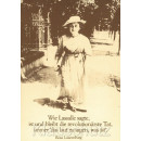 Rosa Luxemburg Zita: Die revolutionärste Tat | Discordia Postkarte