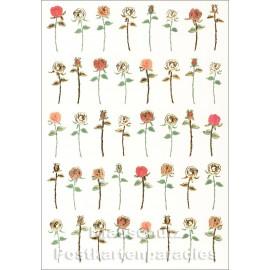 Geprägte Glückwunschkarte mit Rosen