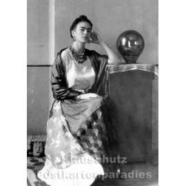 Foto Postkarte s/w | Frida Kahlo