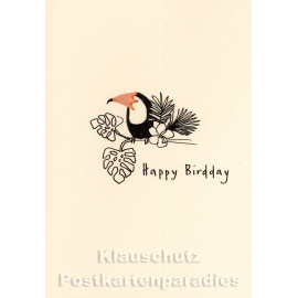 Buntstift Spitzer Doppelkarte - Happy Birdday