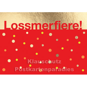 Cityproducts Rheinland Postkarte goldfarben | Lossmerfiere