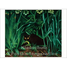 Taurus Kunstpostkarte | Richard Seewald - Katze mit Salamander