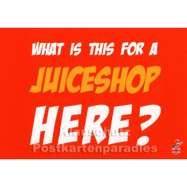 What is this for a juiceshop here | Mainspatzen Denglish Karte