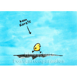 Discordia / Bizarr Postkarte | Kann Karate